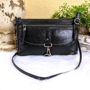 The Sak Black Leather Ventura Crossbody